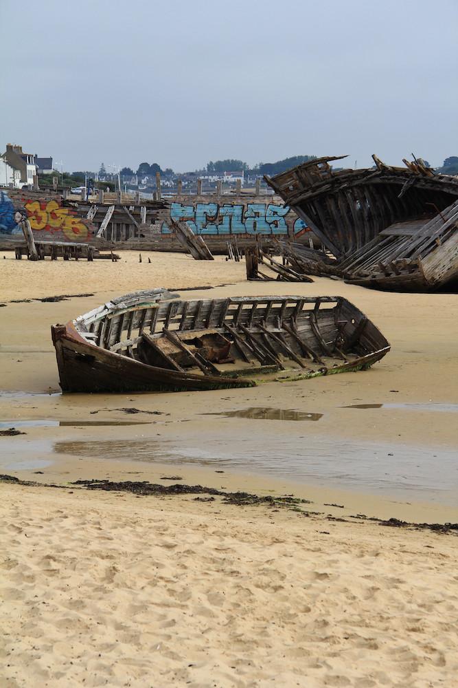 Ria d'Étel, cimetière à bateaux