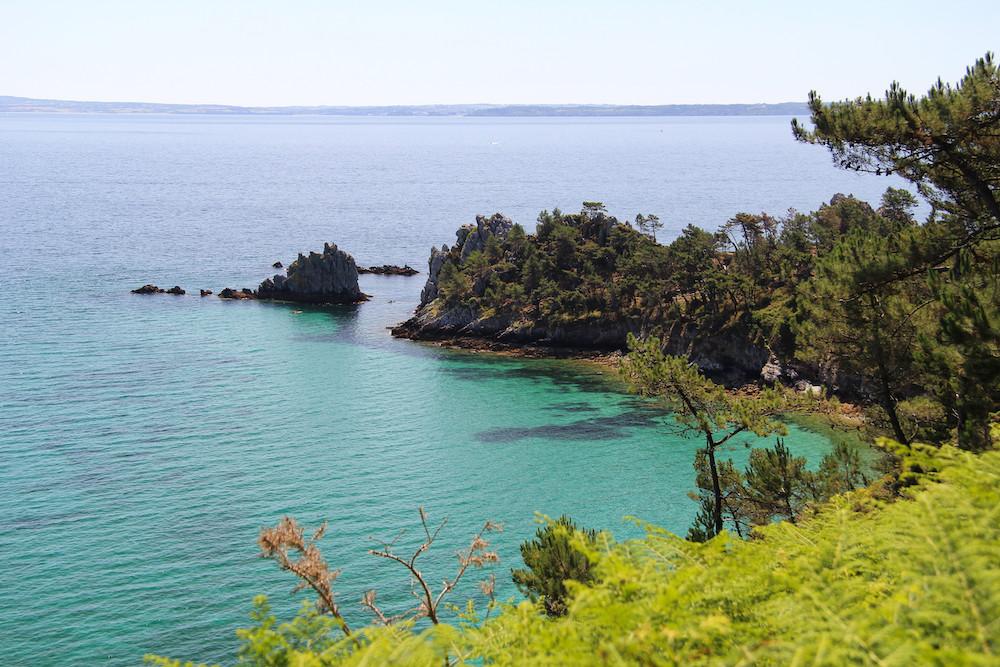 couleurs turquoises à Morgat, presqu'ile de Crozon