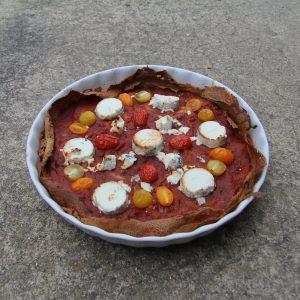 tarte blé noir chevre tomates