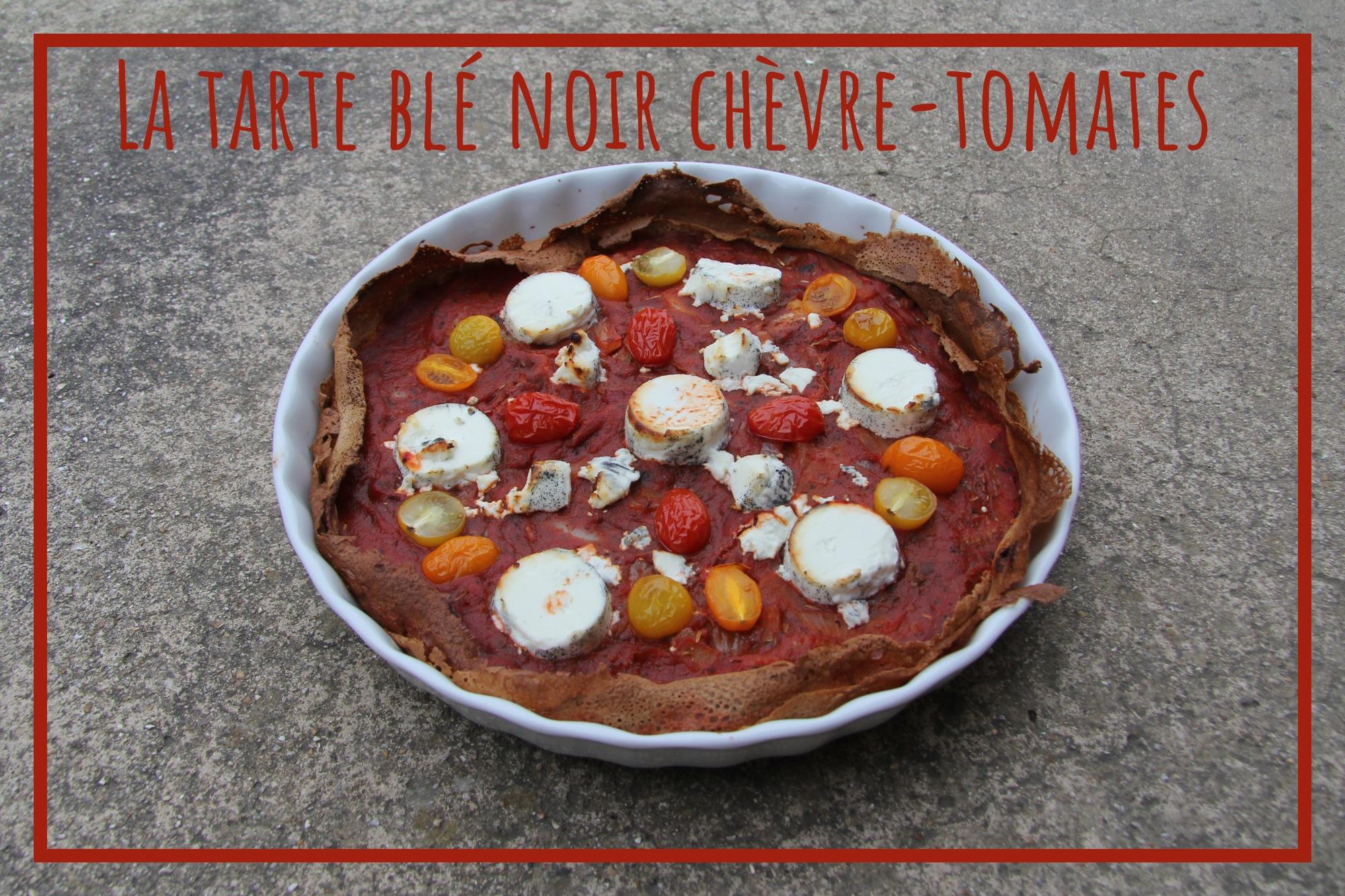 You are currently viewing La tarte de crêpes blé noir chèvre-tomates