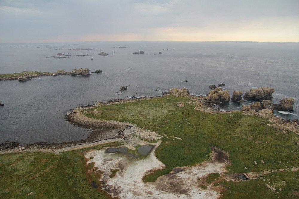 phare de l'ile vierge, la vue d'en haut