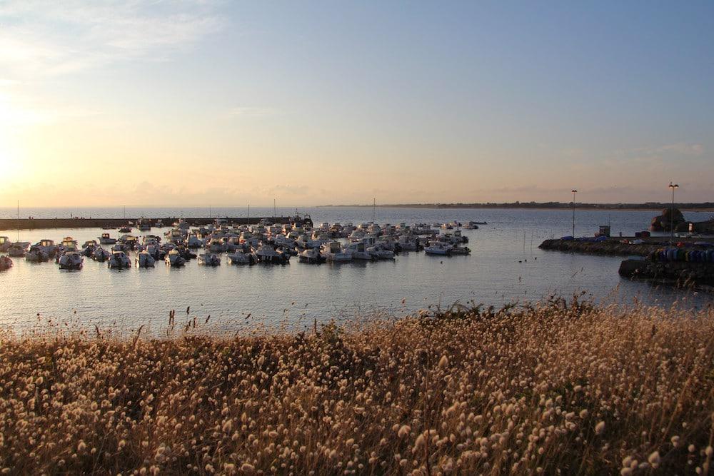 couleurs du soir sur le port de trévignon