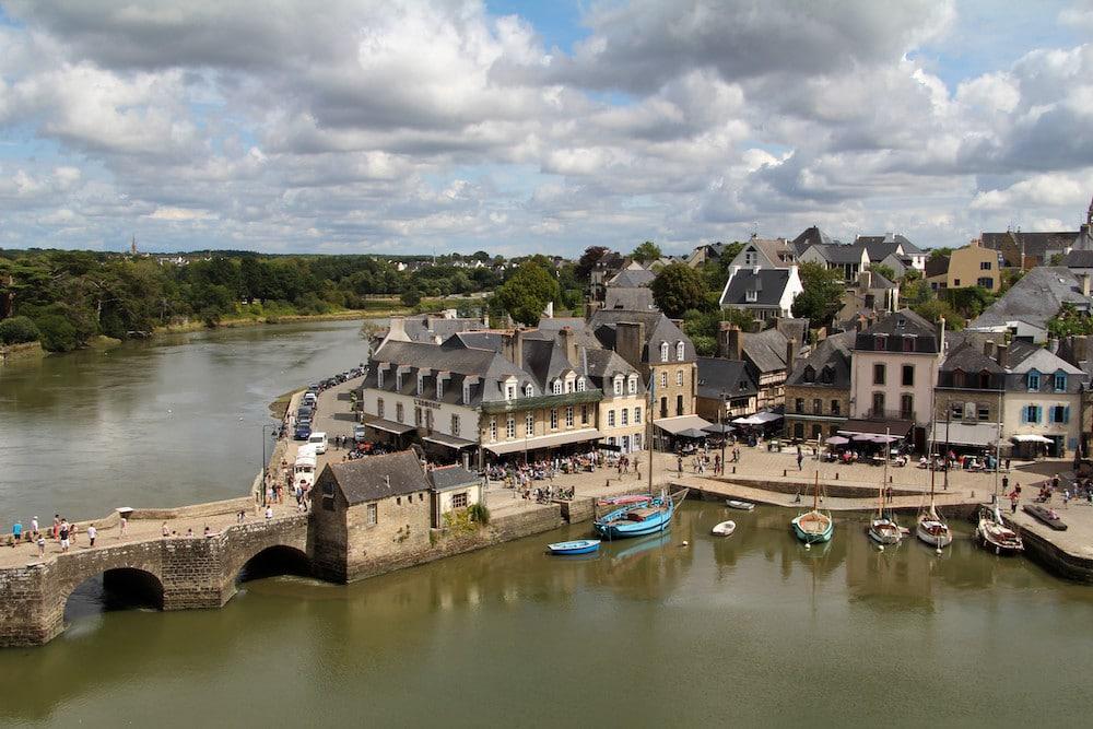 Saint-Goustan depuis les hauteurs d'Auray