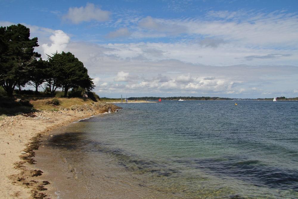 plage sur le golfe du Morbihan