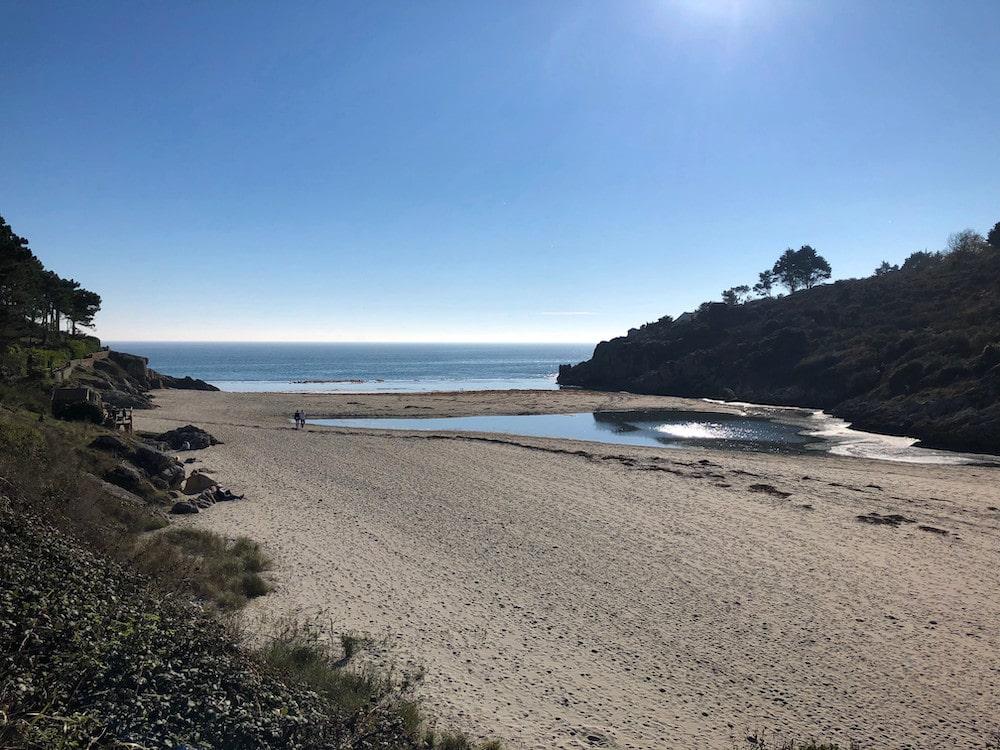 la plage par beau temps