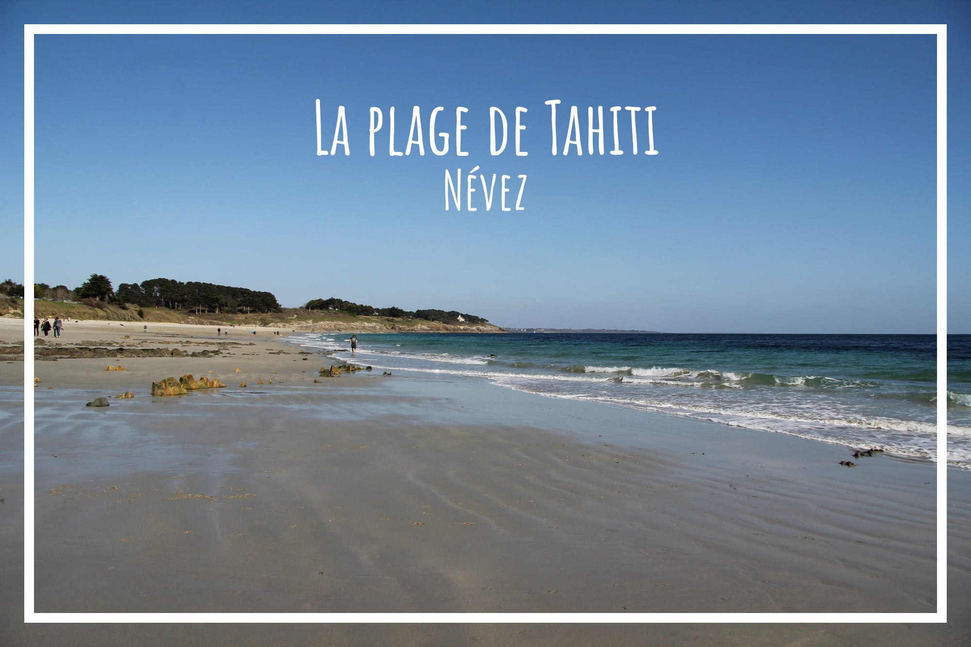 La plage de Tahiti à Névez