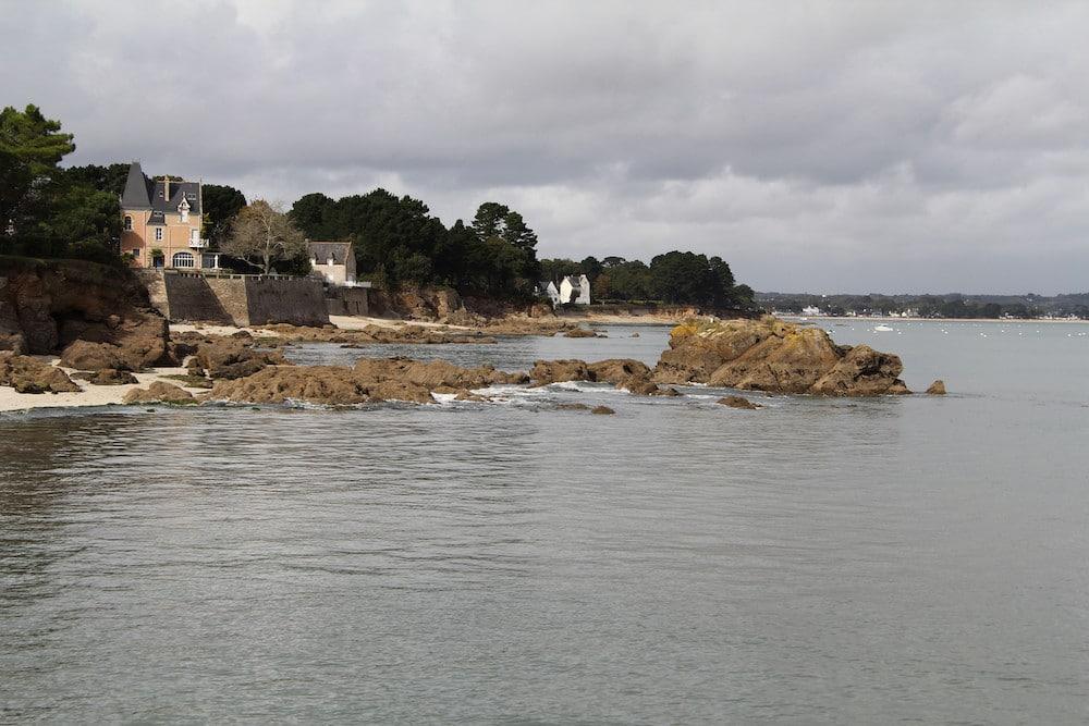 les villas au bord de l'eau