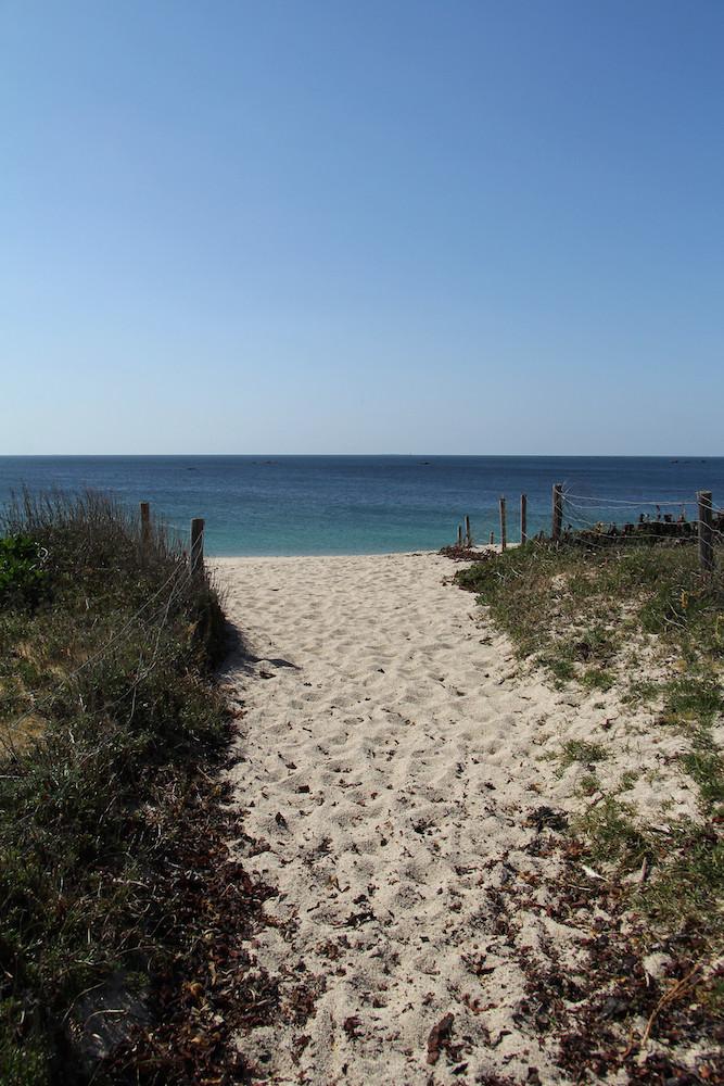 chemin vers la plage