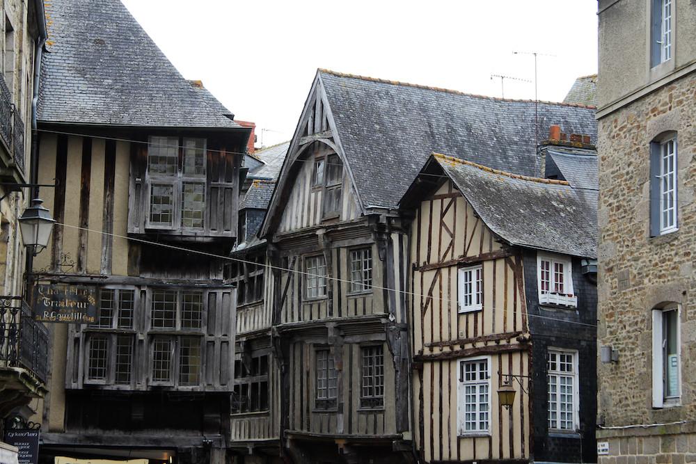 Les façades du centre ville de Dinan